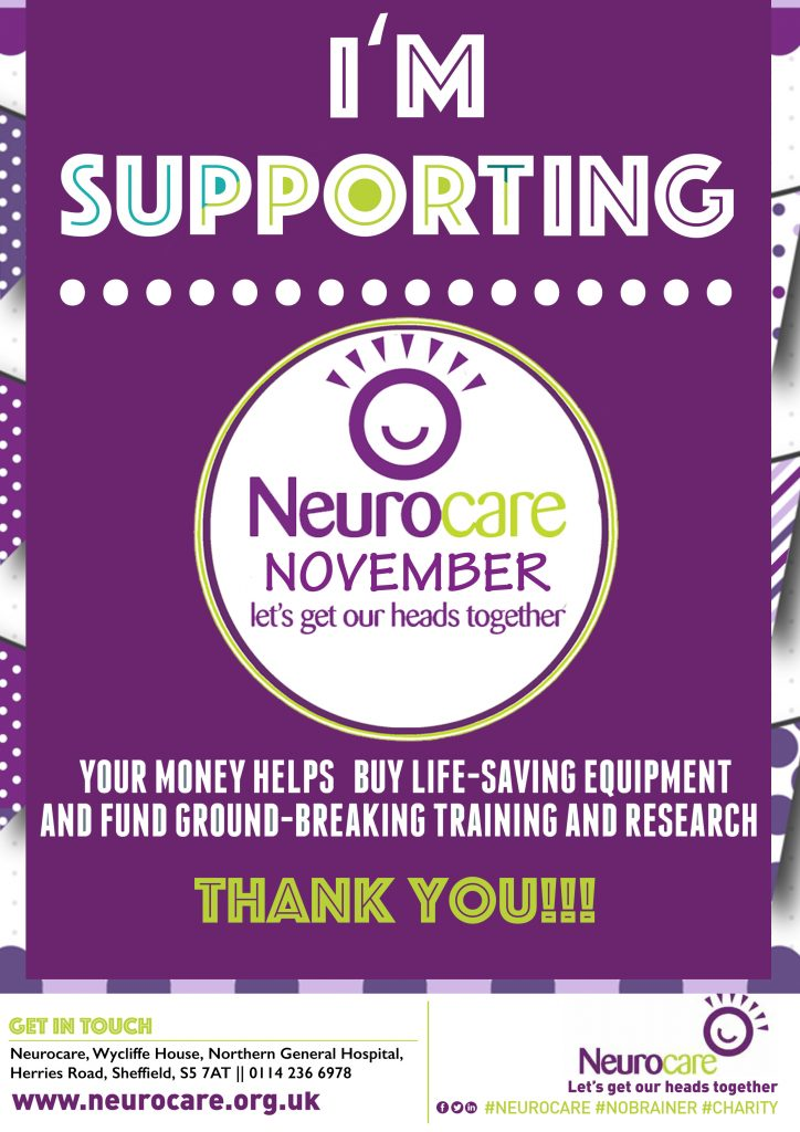 I'm Supporting Neurocare NOVEMBER