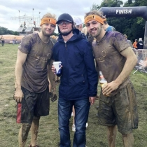 Ashley and Mason completed the Tough Mudder after Ashleys suffered a severe brain injury in early 2016