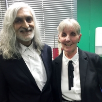 Carol Sorsby had a brain aneurysm in 2013, in 2016 she met with Dr U Patel who saved her life to say thank you