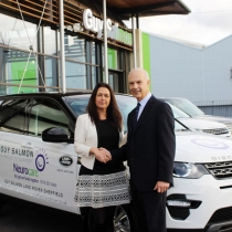 Guy Salmon kindly donated us a brand new Land Rover in November to help us raise awareness for the charity