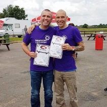 Jason and Dave skydiving for the loved one Mick