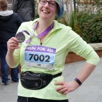 Liz taster completed her first ever 10k for Neurocare