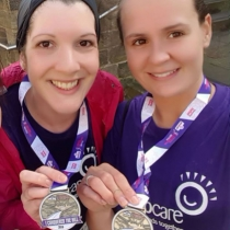 Naomi and Jenni are nurses on the neurowards at the Royal Hallamshire, here they when they completed Sheffield's Half Marathon